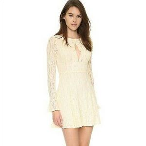 Free People Lace Dress in Ivory